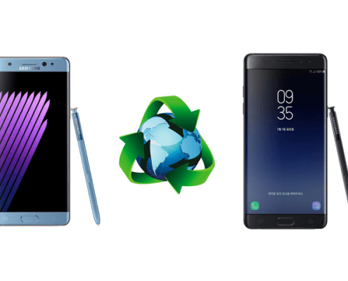 Samsung Galaxy Note 7 en de gerecyclede Note Fan Edition