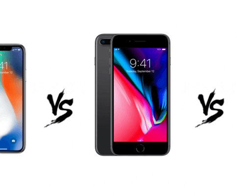 verglijking van de iPhone X vs iPhone 8 plus vs iPhone 8